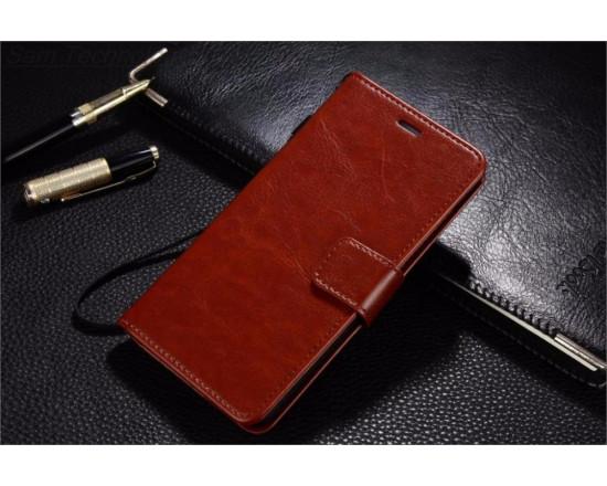 Кожаный чехол-книжка для Huawei Y6 Pro