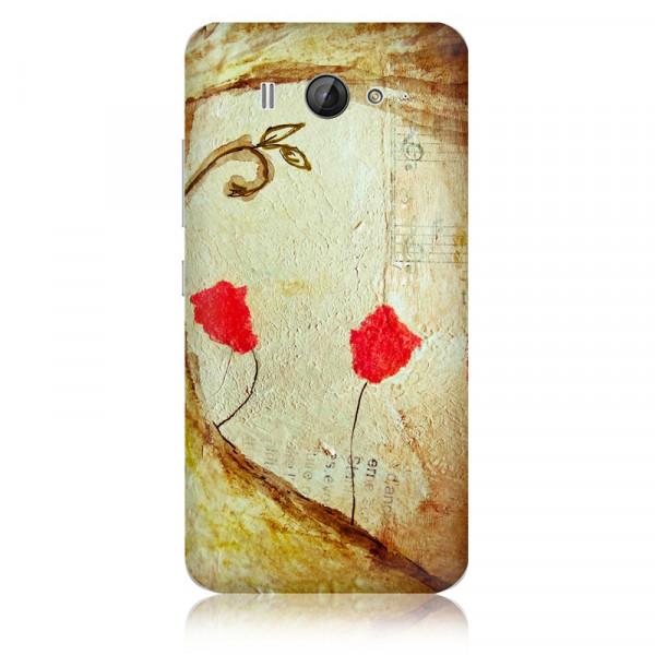 "Стикер ""Красная роза"" на Xiaomi Mi2s"