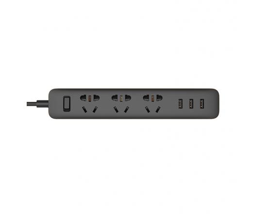Удлинитель Xiaomi Mi Power Strip 3 розетки и 3 USB порта (Black)