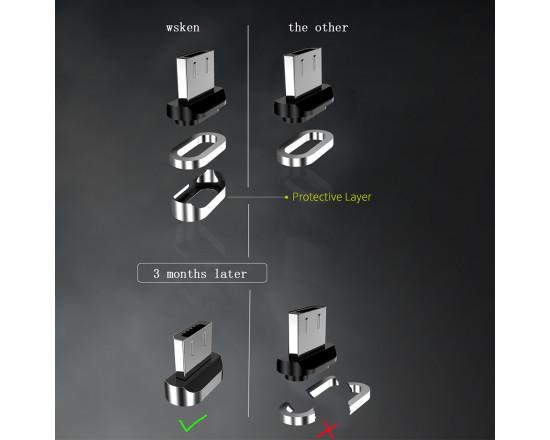 Магнитный кабель Wsken USB Type-C