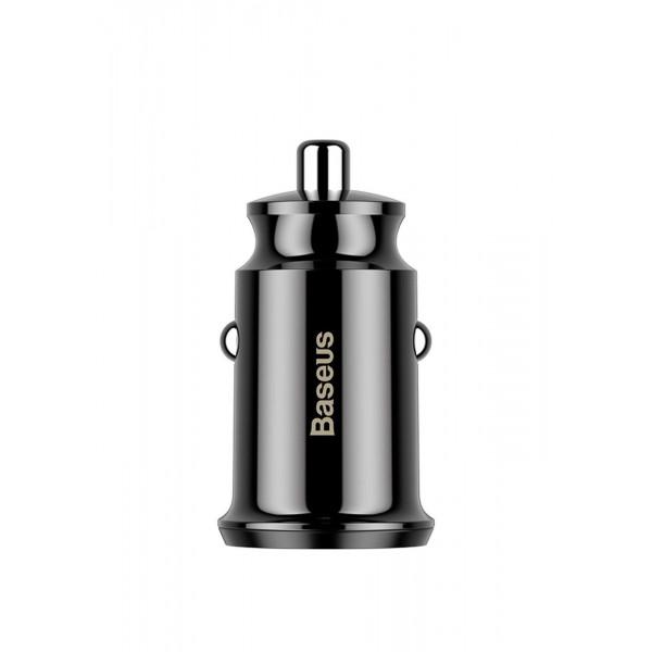 Автомобильное зарядное устройство Baseus Square Dual-USB Quick Charge Car Charger Black (CCALL-DS01)