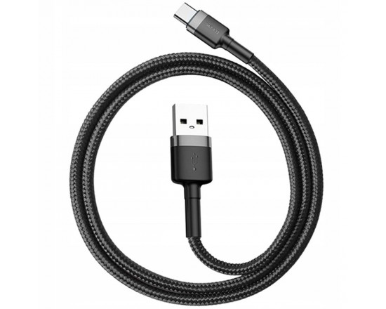 Кабель Baseus Cafule Cable USB for Type-C 2A 2.0 м Gray/Black (CATKLF-CG1)