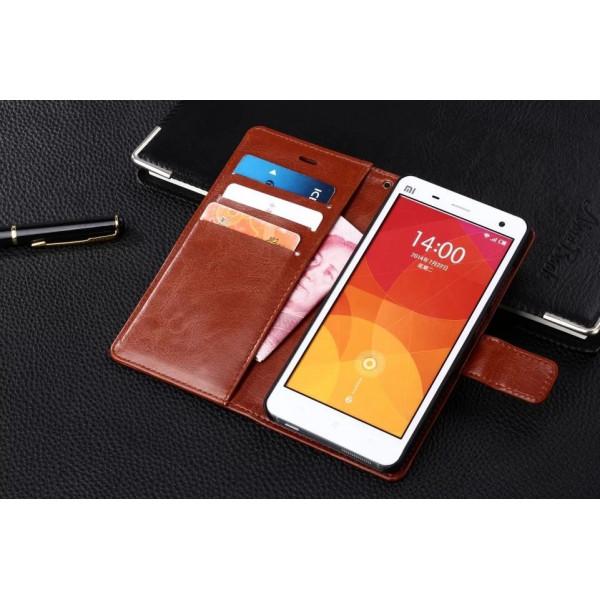 Кожаный флип чехол для Xiaomi Mi4