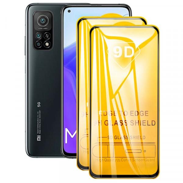Защитное стекло с полным покрытием 9D для телефона Xiaomi Mi 10T/Pro