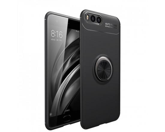 Силиконовый бампер для Xiaomi Mi 6 с кольцом-держателем
