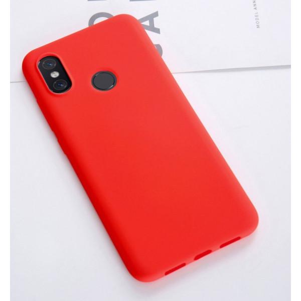 Силиконовый чехол Soft Touch для Xiaomi Mi 8 Красный