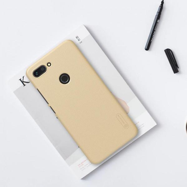 Чехол бампер Nillkin Frosted shield для Xiaomi Mi 8 Lite Золотой
