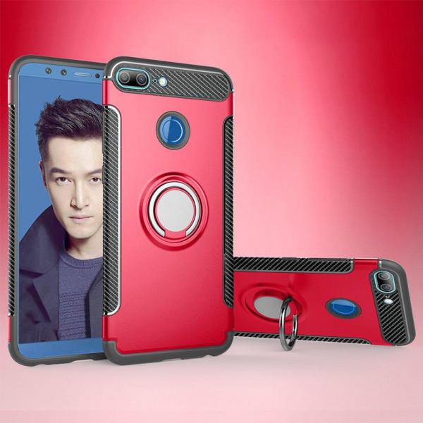 Противоударный бампер для Xiaomi Mi 8 Lite с кольцом-держателем Красный