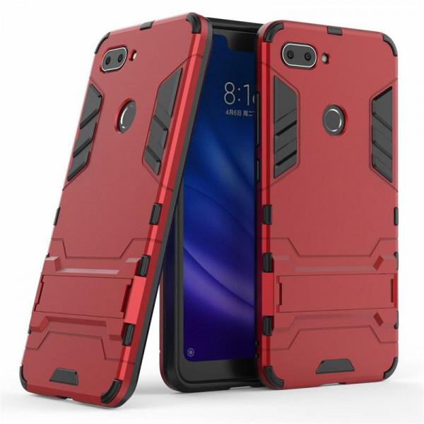 IronMan ультратонкий защитный бампер для Xiaomi Mi 8 Lite Красный