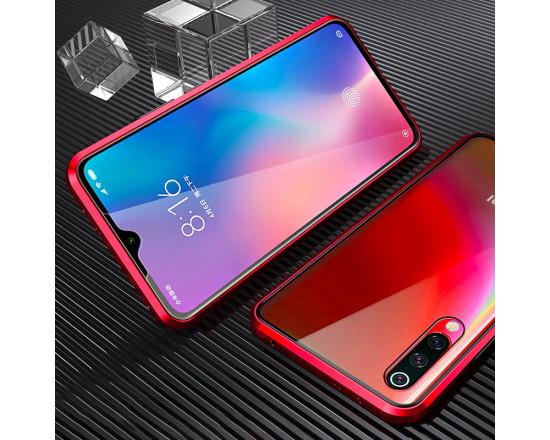 Двухсторонний магнитный чехол для Xiaomi Mi 9 Lite Красный