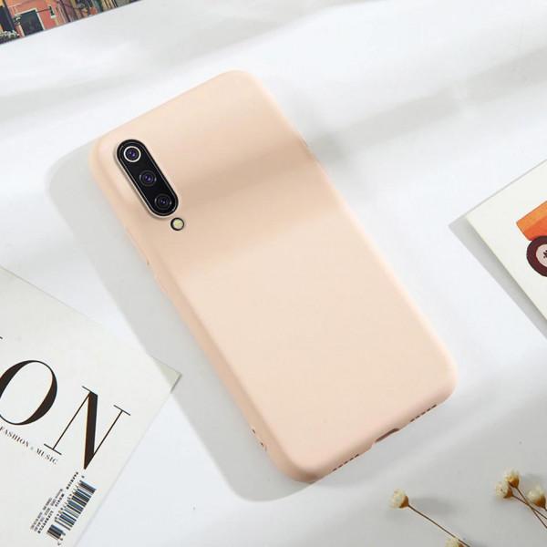 Силиконовый чехол Soft Touch для Xiaomi Mi 9 Розовый
