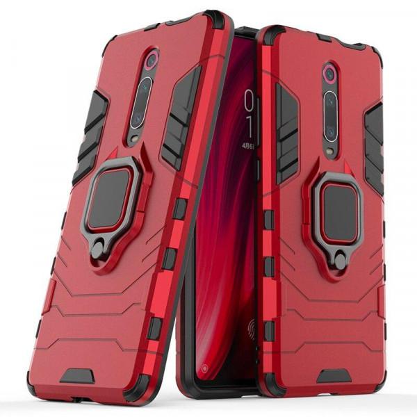 IronMan ультратонкий защитный бампер для Xiaomi Mi 9T/Pro(Redmi K20) с кольцом-держателем Красный