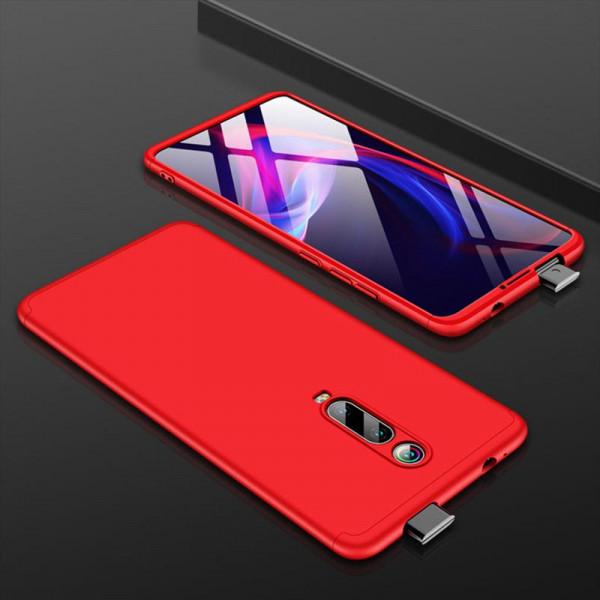 Матовый защитный чехол GKK 360° для Xiaomi Mi 9T/Pro Красный