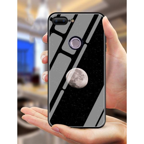 Глянцевый силиконовый бампер для Xiaomi Mi 8 lite с рисунком Луна