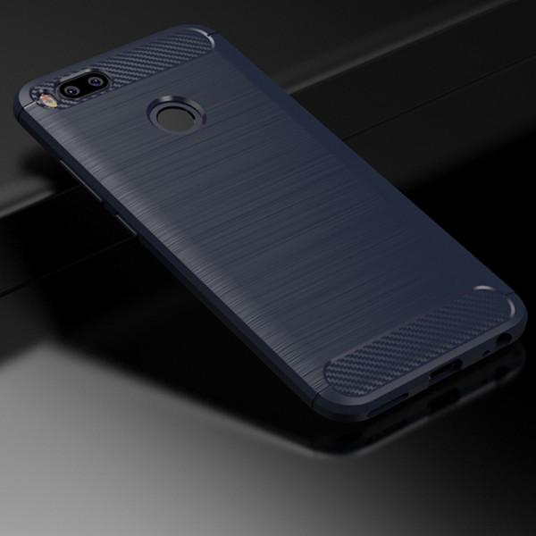 Силиконовый чехол с карбоновой вставкой для Xiaomi Mi A1