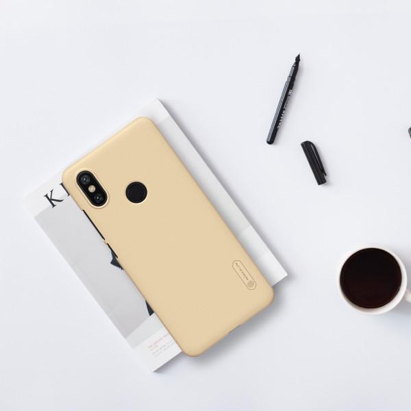 Чехол бампер Nillkin Frosted shield для Xiaomi Mi A2 Lite Золотой