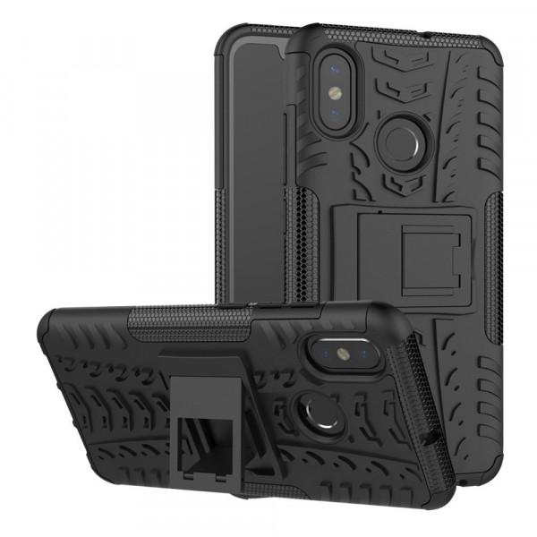 Бронированный силиконовый бампер для Xiaomi Mi A2 Черный