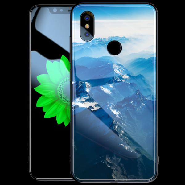 Глянцевый силиконовый бампер для Xiaomi Mi A2 с картинкой Зимние горы