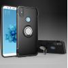 Противоударный бампер для Xiaomi Mi A2 с кольцом-держателем Черный