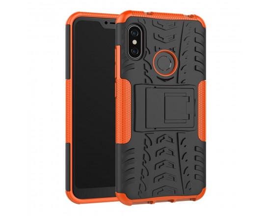 Бронированный силиконовый бампер для Xiaomi Mi A2 Lite Оранжевый