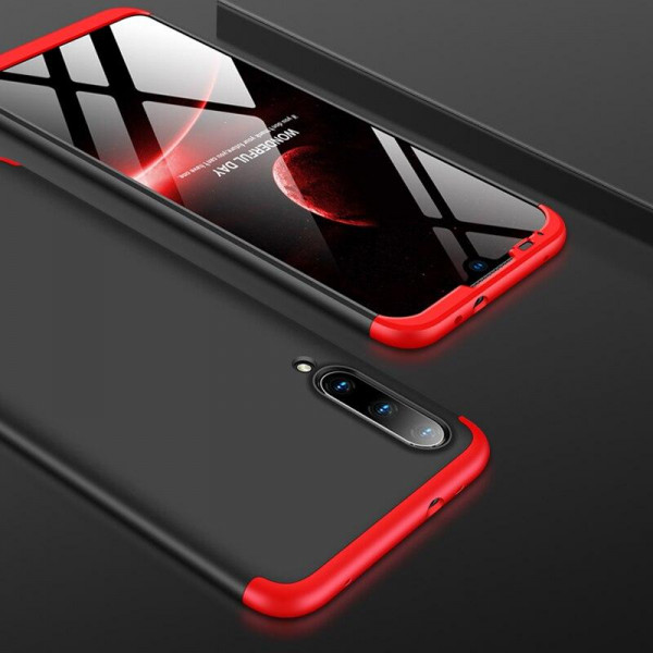 Матовый защитный чехол GKK 360° для Xiaomi Mi A3 Чёрно-красный