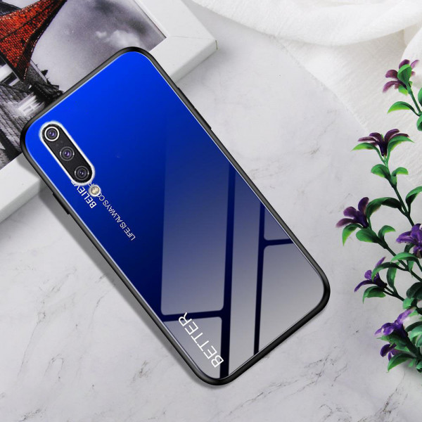 Глянцевый силиконовый бампер для Xiaomi Mi A3 Синий