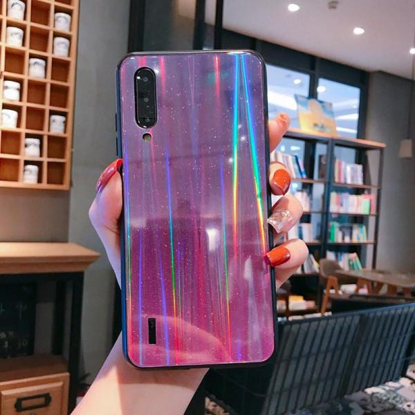 Глянцевый силиконовый чехол Holografic для Xiaomi Mi A3 Фиолетовый