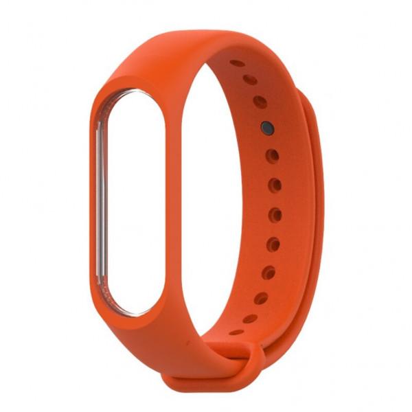 Силиконовый ремешок MiJobs для Xiaomi Mi Band 5 Оранжевый