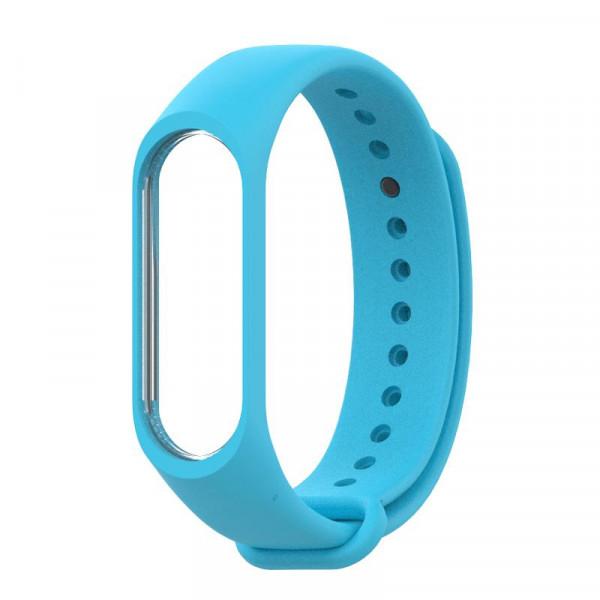 Силиконовый ремешок MiJobs для Xiaomi Mi Band 5 Голубой