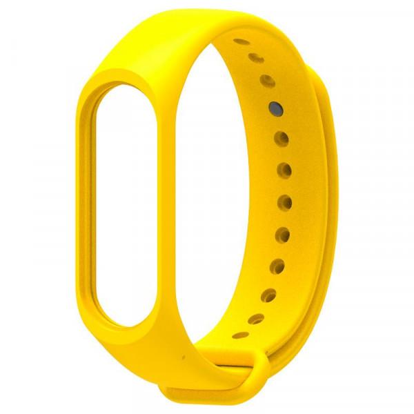Силиконовый ремешок MiJobs для Xiaomi Mi Band 5 Желтый