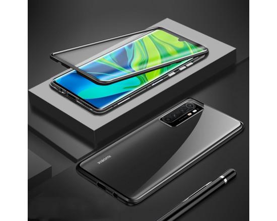 Двухсторонний магнитный чехол для Xiaomi Mi Note 10 Lite Черный