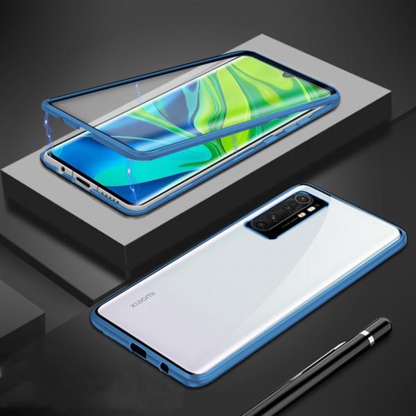 Двухсторонний магнитный чехол для Xiaomi Mi Note 10 Lite Синий