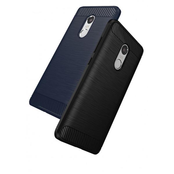 Силиконовый чехол с карбоновой вставкой для Xiaomi Redmi Note 4X