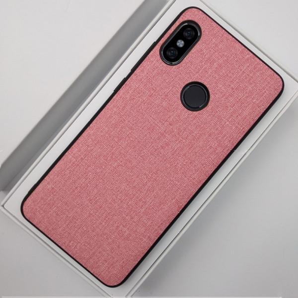Силиконовый чехол с текстильным покрытием для Xiaomi Mi A2 Lite