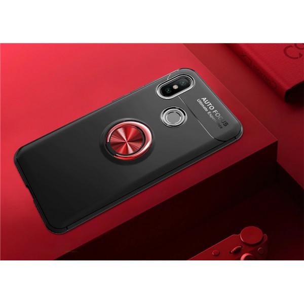 Силиконовый бампер для Xiaomi Redmi S2 с кольцом-держателем Красный