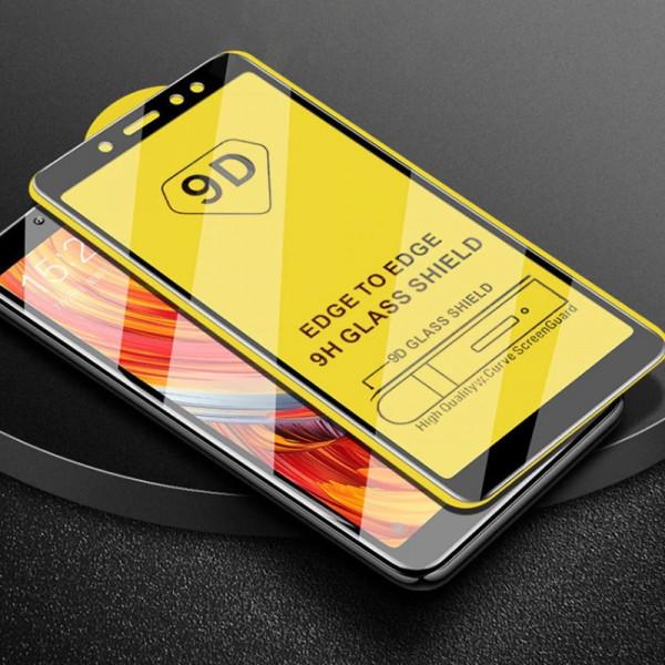 Защитное стекло с полным покрытием 9D для телефона Xiaomi Redmi Note 5