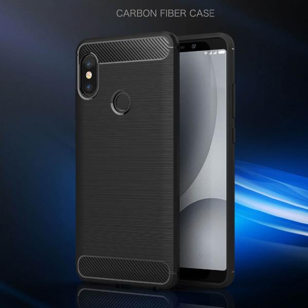 Силиконовый бампер Ipaky с карбоновыми вставками для Xiaomi Redmi Note 5