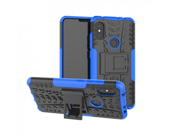 Бронированный бампер для Xiaomi Redmi Note 6 Pro Синий