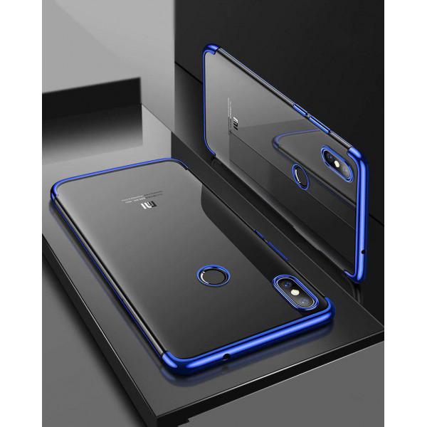 Силиконовый чехол с цветными рамками для Xiaomi Mi A2 Lite