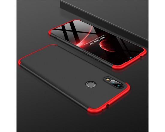 Матовый защитный чехол GKK 360° для Xiaomi Redmi Note 7 Черно-красный
