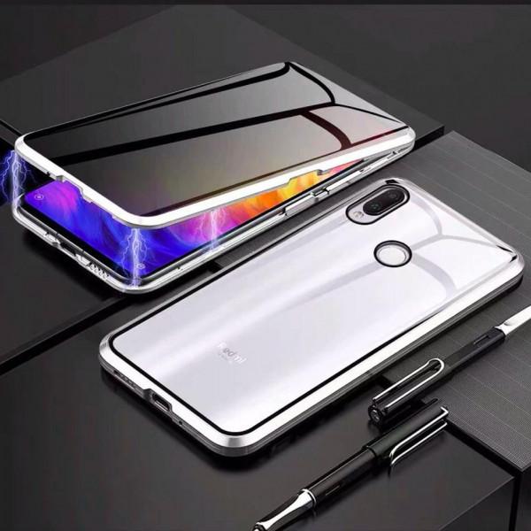 Двухсторонний магнитный чехол для Xiaomi Redmi Note 7 Серебристый