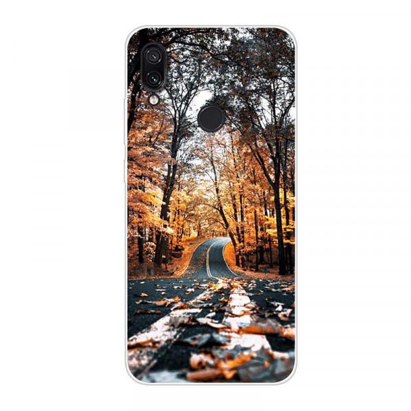 Силиконовый чехол для Xiaomi Redmi 7 с картинкой Осенняя дорога