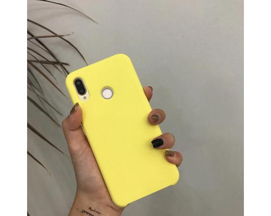 Силиконовый чехол Soft Touch для Xiaomi Redmi 7 Желтый