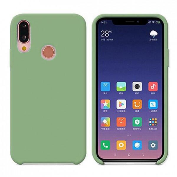Силиконовый чехол Silky Touch для Xiaomi Redmi Note 7 Зеленый