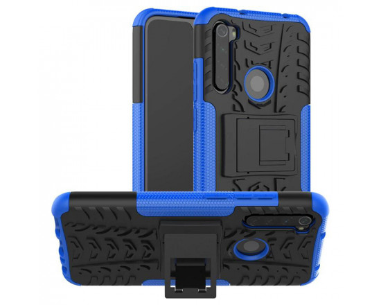 Бронированный бампер для Xiaomi Redmi Note 8 Синий