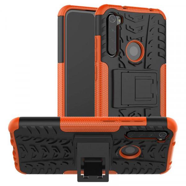 Бронированный бампер для Xiaomi Redmi Note 8 Оранжевый