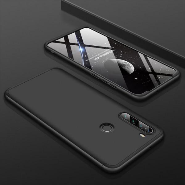 Матовый защитный чехол GKK 360° для Xiaomi Redmi Note 8 Черный