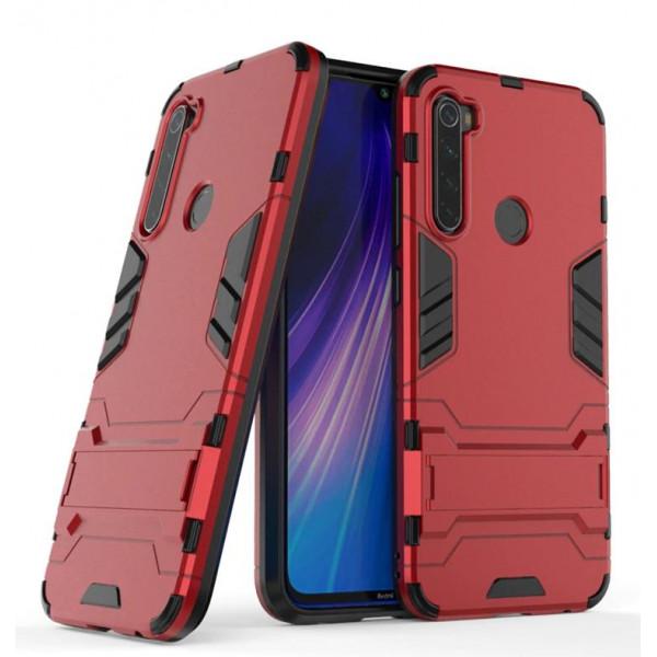 IronMan ультратонкий защитный бампер для Xiaomi Redmi Note 8 Красный