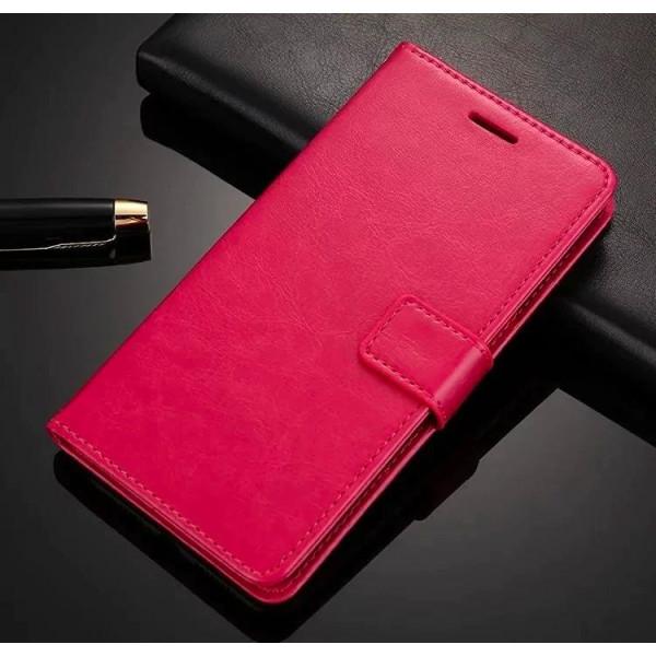 Чехол-книжка для Xiaomi Redmi Note 9 Розовый