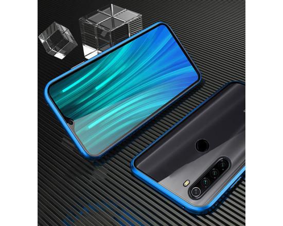 Двухсторонний магнитный чехол для Xiaomi Redmi Note 8T Синий